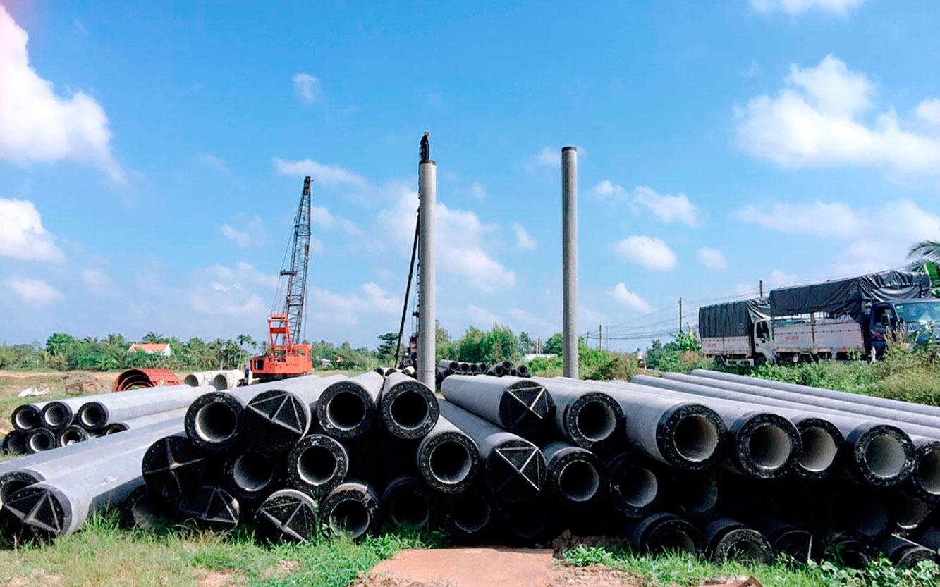 Thi công xây dựng phần đường và cầu trên tuyến cao tốc Trung Lương – Mỹ Thuận